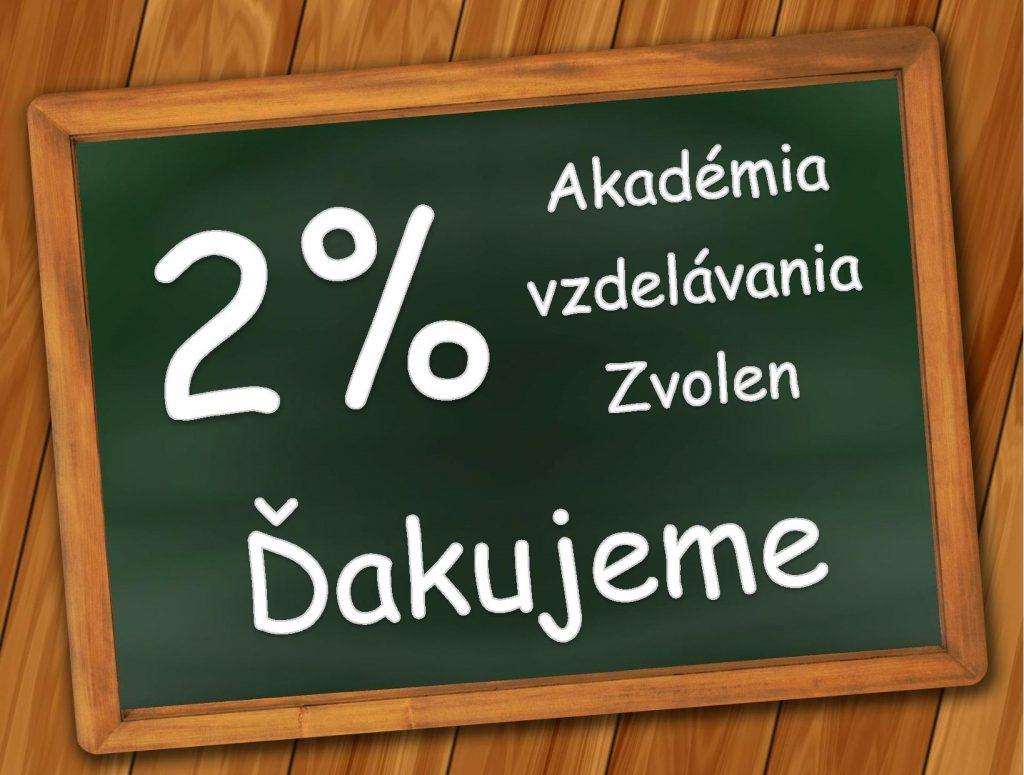 2% z dane z príjmov