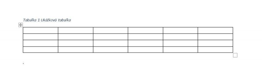 správne popísaná tabuľka v diplomovke